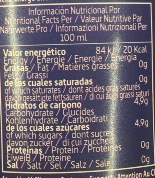 Andis kola - Informació nutricional - fr