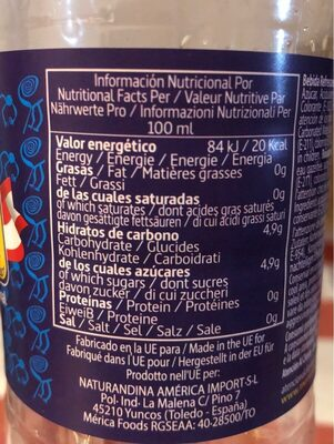 Andis Kola - Información nutricional - es