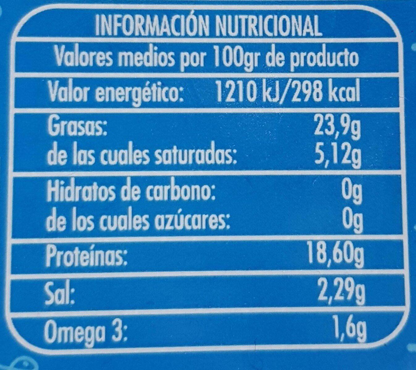 Sardinas en vinagre - Informació nutricional - es