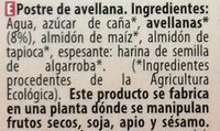 Postre de avellana Original - Ingredientes