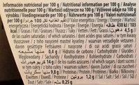 Postre de avellana original - Información nutricional - es