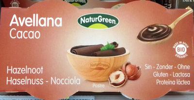Postre de avellana Cacao - Producte