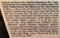 Postre de avellana Cacao - Informació nutricional