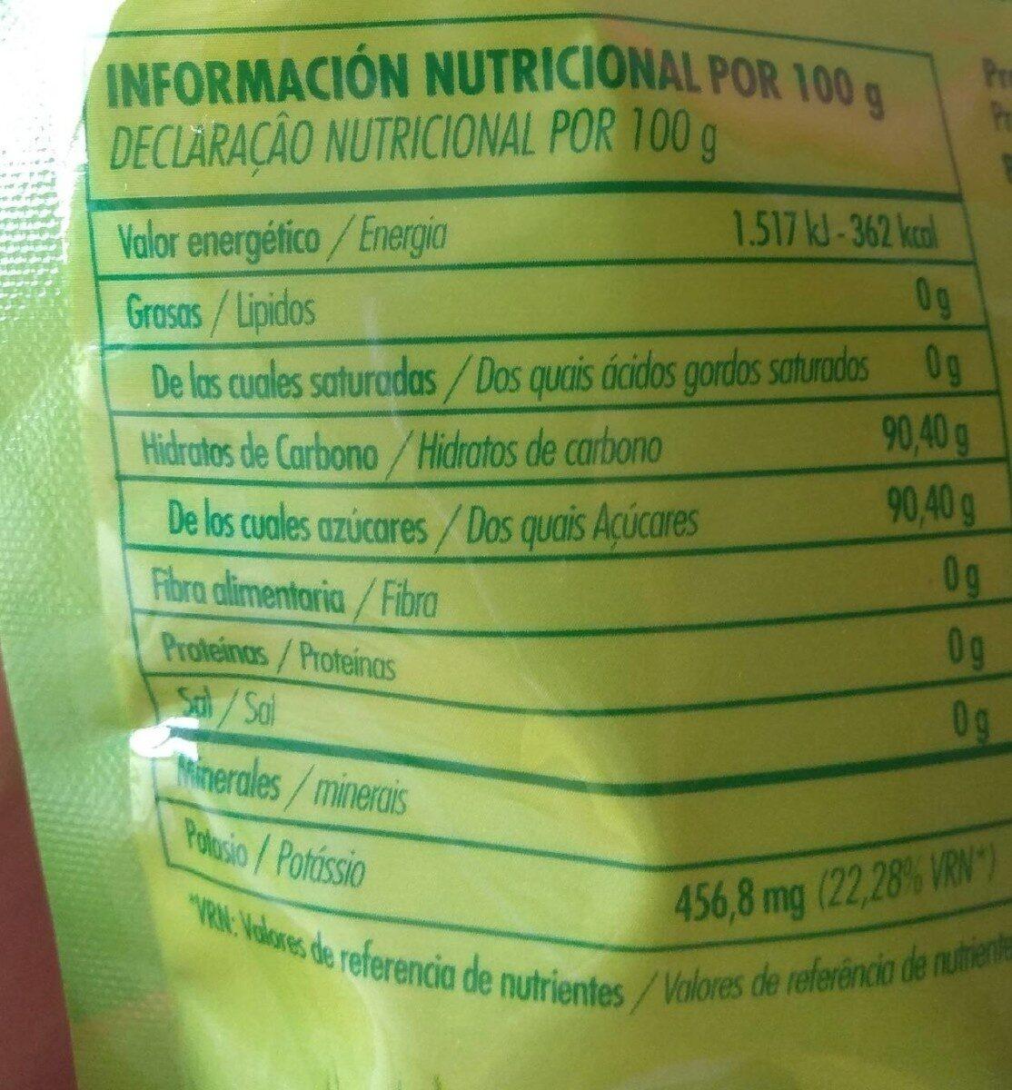 Panela - Información nutricional - es