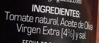 Tomate natural rallado con aceite de oliva - Ingredientes