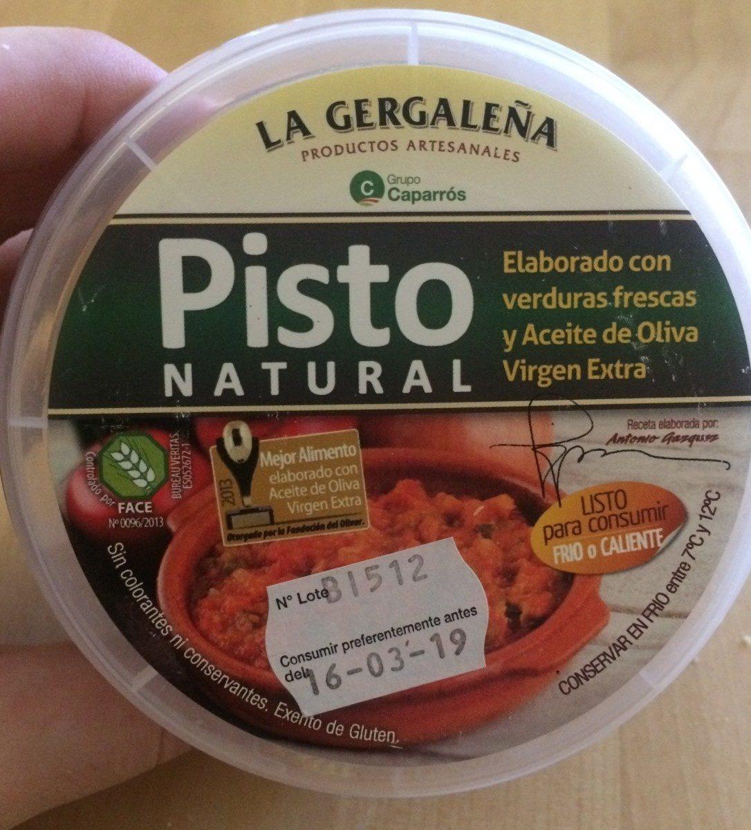 Pisto natural - Produit - fr