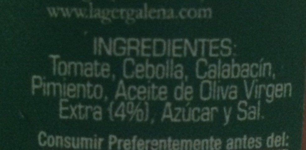 Pisto natural - Ingrédients - fr