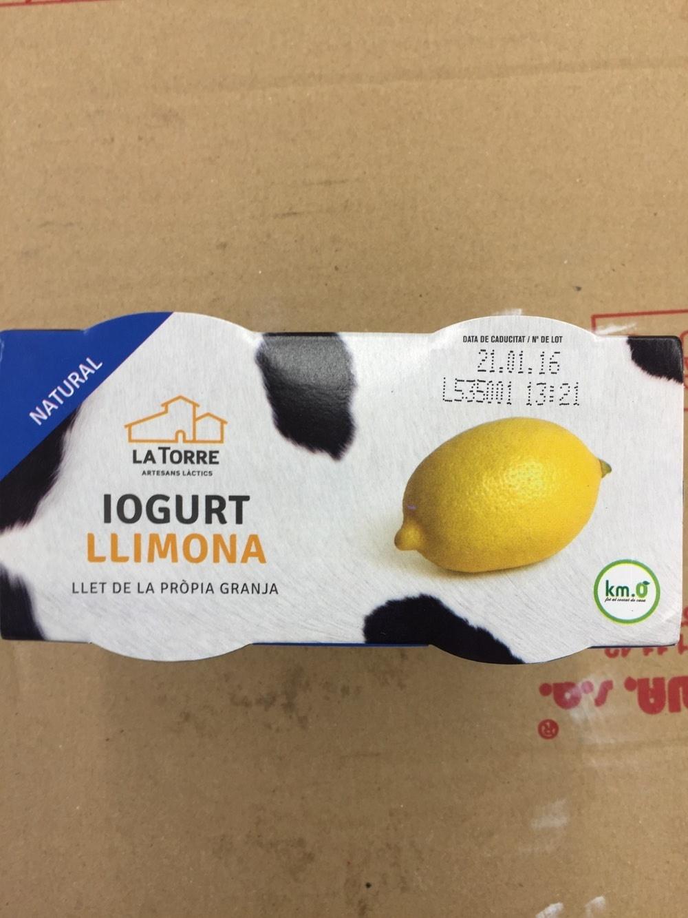 Iogurt Llimona - Producto