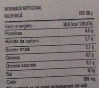 Iogurt desnatado La Torre - Información nutricional