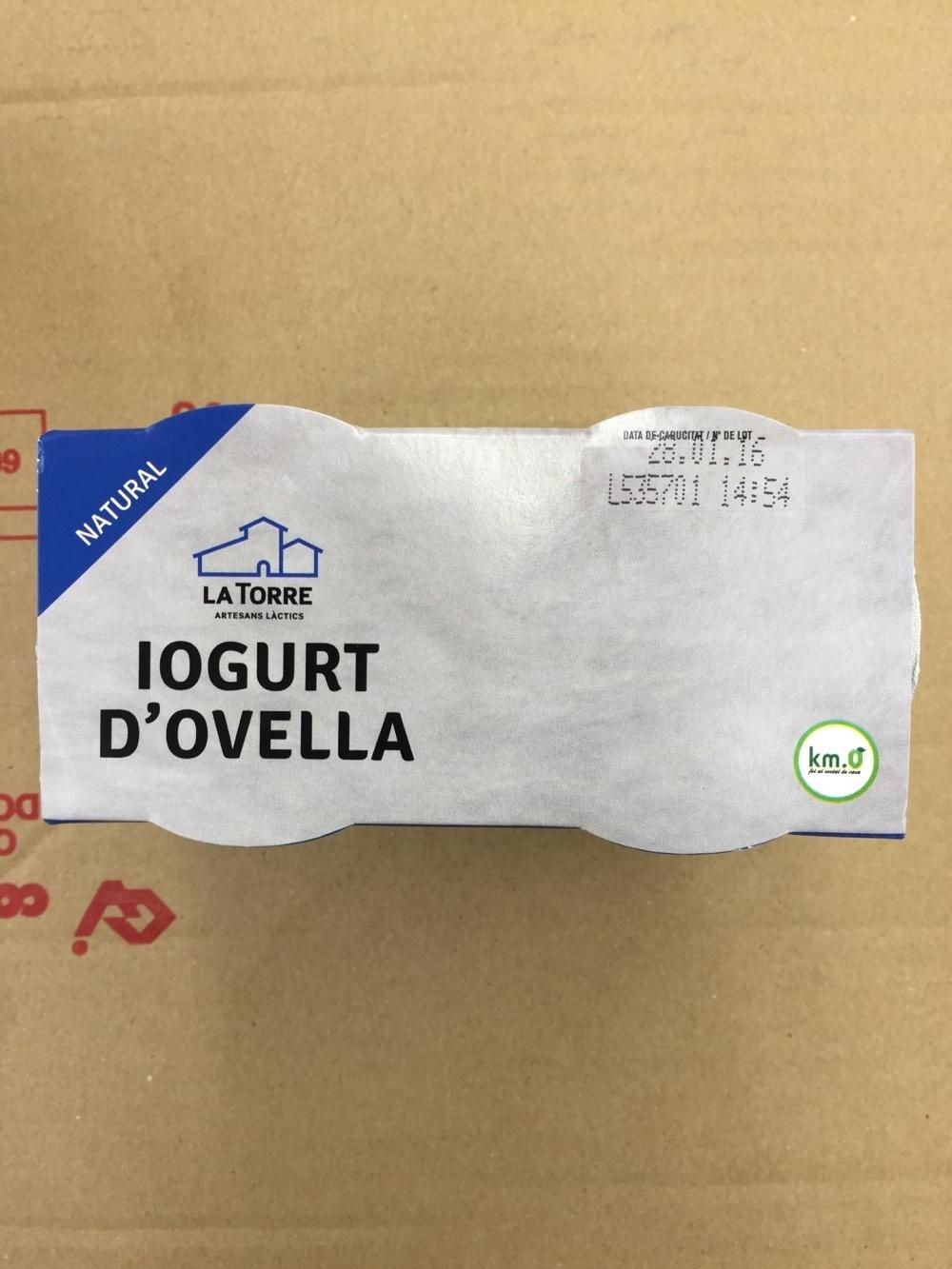 Iogurt d'ovella - Producto