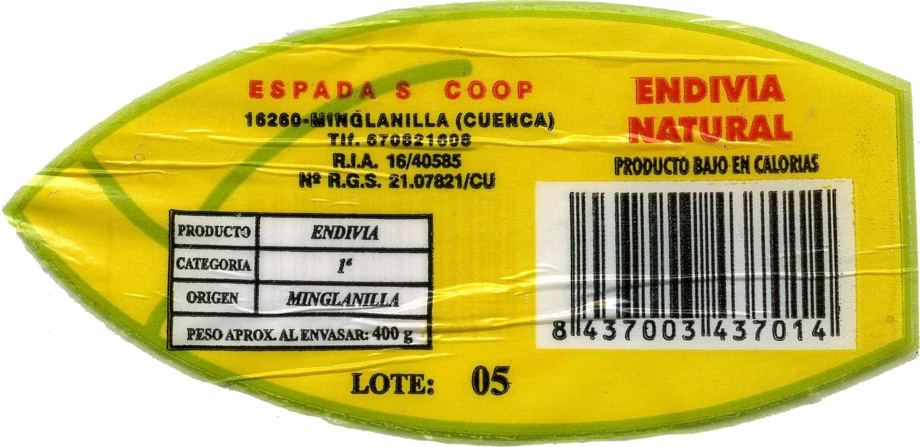 Endibias - Ingrédients - es