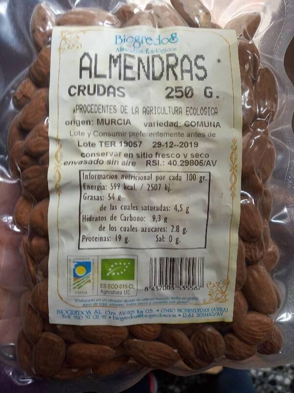 Almendras crudas - Product