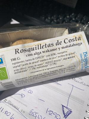 Rosquilletas de Costa - Producte