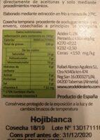 Aceite de oliva - Nutrition facts