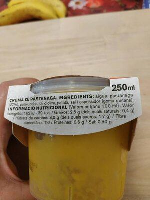 Crema de zanahoria con verduras frescas - Voedigswaarden