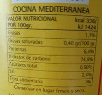 Rissoto Funghi Porcini - Información nutricional - es
