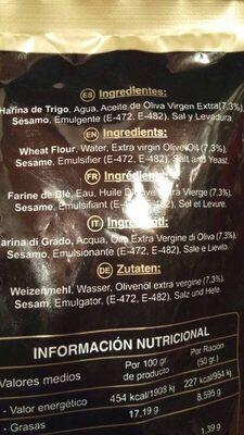 Regañás - Ingredientes - es
