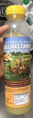 15 claras de huevo gallina campera - Product