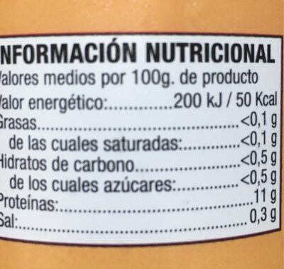 15 claras de huevo gallina campera - Voedingswaarden