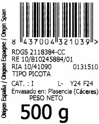 Picotas - Ingrediënten - es