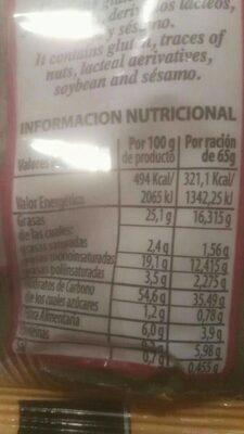 Rosquiart Integrales - Información nutricional - es