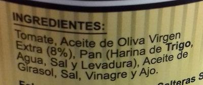 Salmorejo Garcia Millán - Ingredientes - es
