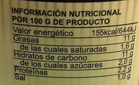 Salmorejo Garcia Millán - Información nutricional - es