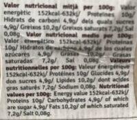 Mató requeson El Canadell - Información nutricional