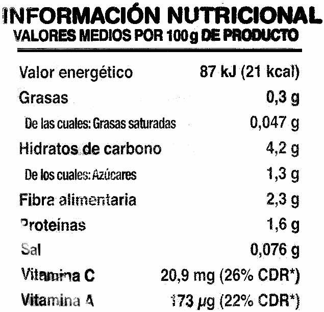 Ensalada Fresca - Voedingswaarden - es
