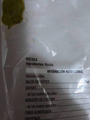 Rucula - Ingredientes - es