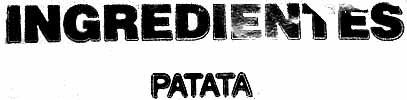 Patatas para vapor - Ingredients - es