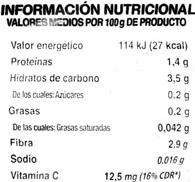 Ensalada Variada - Voedingswaarden - es