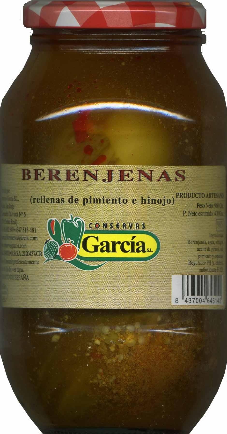 """Berenjenas encurtidas embuchadas """"Conservas García"""" - Producto - es"""