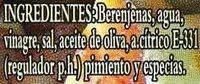 Cachitos de berenjena - Ingredients