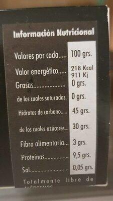 Ajo negro - Valori nutrizionali - es