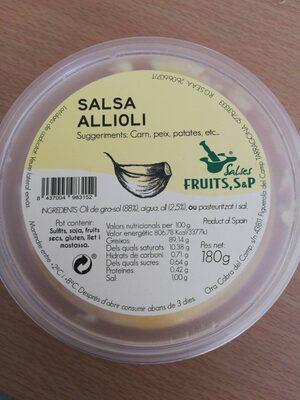 Salsa Allioli - Producte