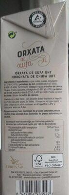 Horchata de chufa - Prodotto - es