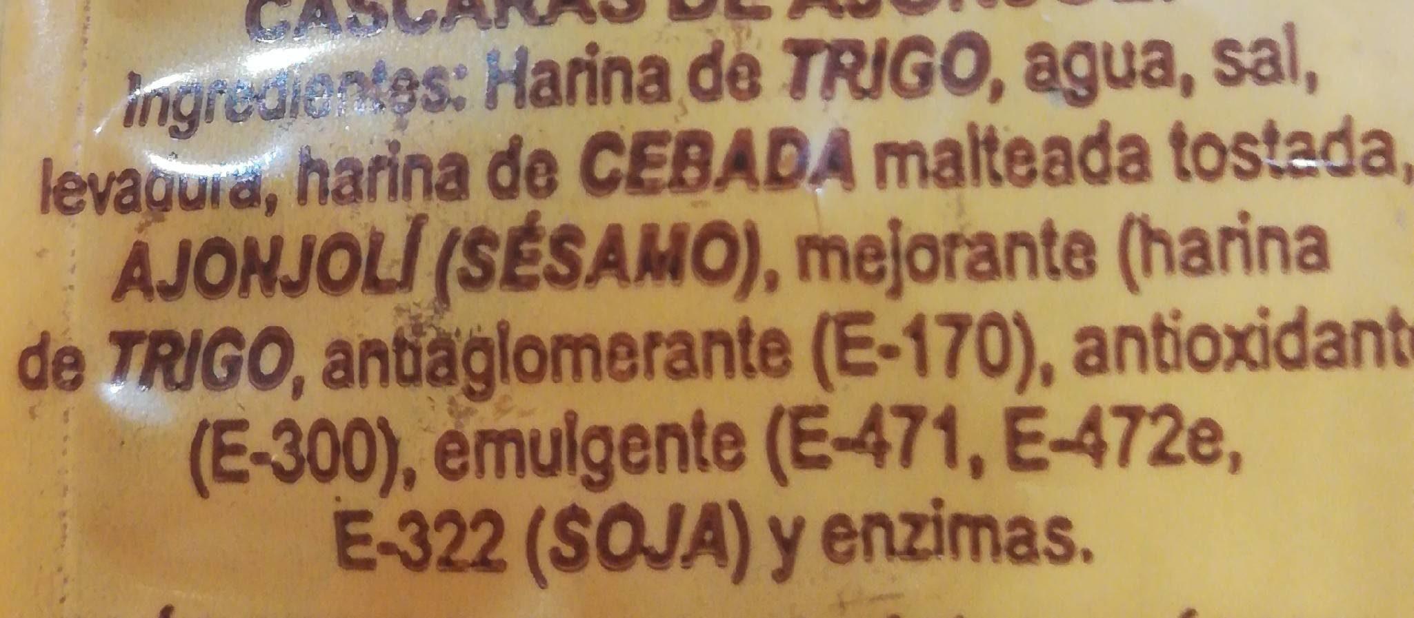 Picos camperos - Ingrédients