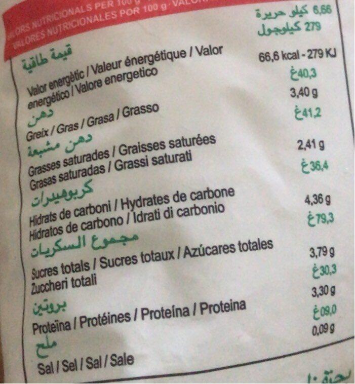 Laben atlas - Informació nutricional - fr