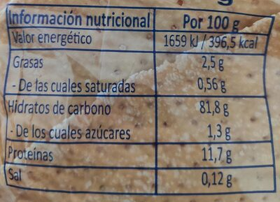 Regañas - Nutrition facts - es