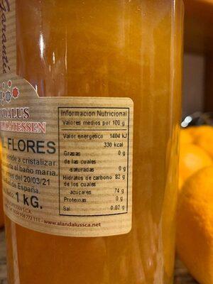 Miel de flores - Información nutricional - es