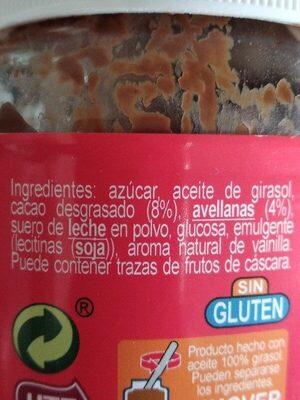 Crema al cacao con avellanas - Ingredienti - es