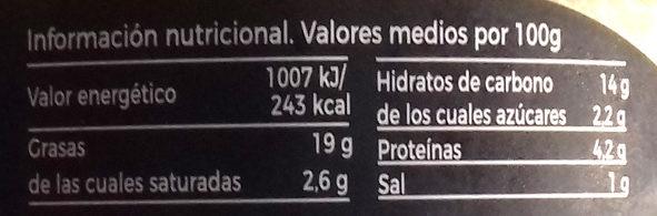 Hummus Guacamole - Información nutricional - es