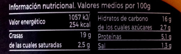 Hummus pimientos de piquillos - Información nutricional - es