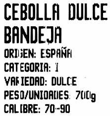 Cenolla Dulcr - Ingredientes - es