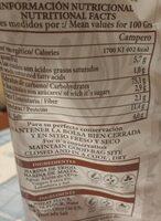 Camperos tiernos aceite de oliva V.E. - Informació nutricional - es