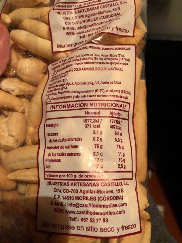 Picos artesanos - Nutrition facts - es