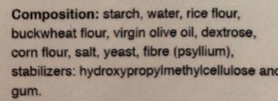Gluten free bread - Ingredients - en