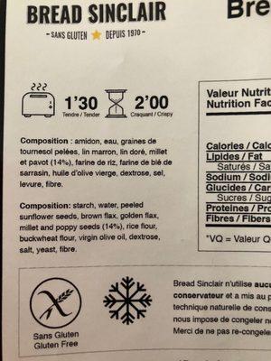 Bread Sinclair MultiGrains Sans Gluten - 4