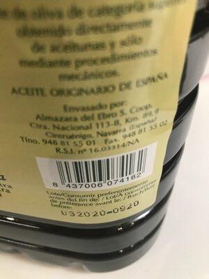 Aceite Almazara del Ebro - Produit